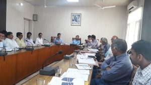 Project progress review meeting